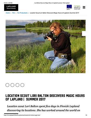 Lori Balton Discovers Magic Hours of Lapland Locations