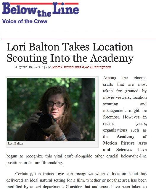 Balton Brings Locations Into The Academy